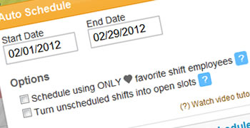 Our autoscheduler allows you to create online work schedules in seconds.
