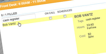 Our work schedule maker ensures you always schedule employees with the right skills